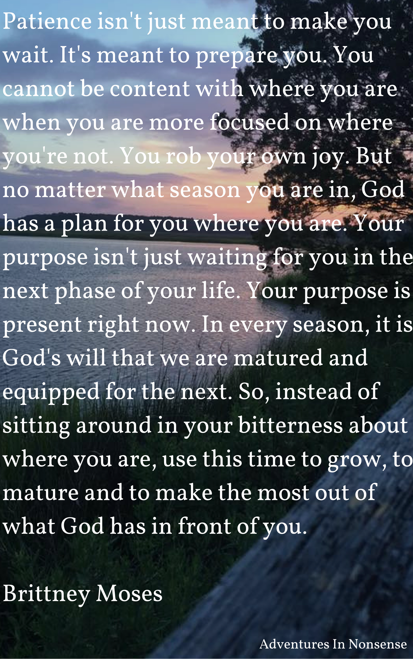 This Is A Beautiful Quote That I Found On A Newly Discovered Blog. Brittney  Moses Runs A Faith And Mental Wellness Blog. Isnu0027t That What Patience Is  All ...