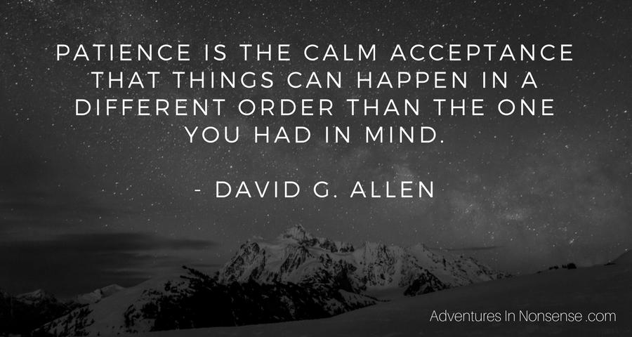 patience acceptance