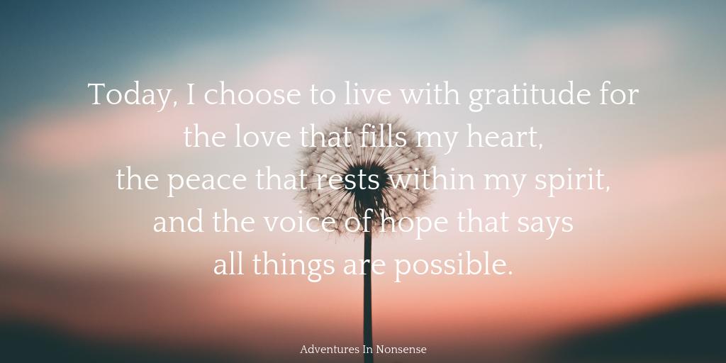 live gratitude love peace